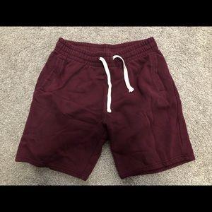 Men's XL H&M maroon sweat shorts